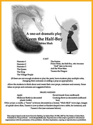 One-act play script of Neem the Half-Boy